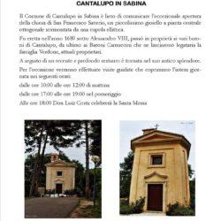 Cantalupo in Sabina e Carlo Verdone aprono straordinariamente la chiesa di S. Francesco Saverio