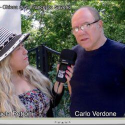 Emanuela Petroni intervista CARLO VERDONE - Chiesa di S. Francesco Saverio - Cantalupo in Sabina