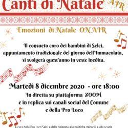Martedì 8 Dicembre - SELCI - EMOZIONI DI NATALE On Air - Canti di Natale