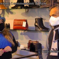 Emanuela Petroni presenta in TV i commercianti di Rieti – Luigi Manzara – Calzature