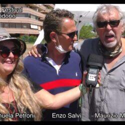 Emanuela Petorni con Enzo Salvi e Maurizio Mattioli #iononliabbandono – Pet Carpet Film Festival