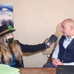 ANTONIO EMILI Assessore del Comune di RIETI in TV intervistato da Emanuela Petroni su Canale Italia 11