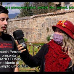 FABIANO ERMINI Presidente di HORTUS SIMPLICIUM di Rieti in TV intervistato da Emanuela Petroni su Canale Italia 11