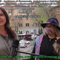 Emanuela Petroni presenta in TV FRANCESCA LEONCINI Assessore al Commercio, Artigianato e Attività Produttive, Personale, Sicurezza e Turismo del III Municipio di ROMA, Esponente di Italia Viva