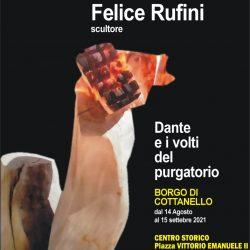 """14 Agosto presso la piazza del Centro Storico di Cottanello - si svolgerà l'inaugurazione della mostra intitolata """"Dante"""" - Direttore artistico Luciano Fabrizi"""